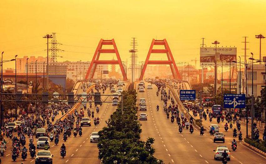 Khoảnh khắc Sài Gòn đẹp lạ thường trong bộ ảnh chụp từ trên cao 5