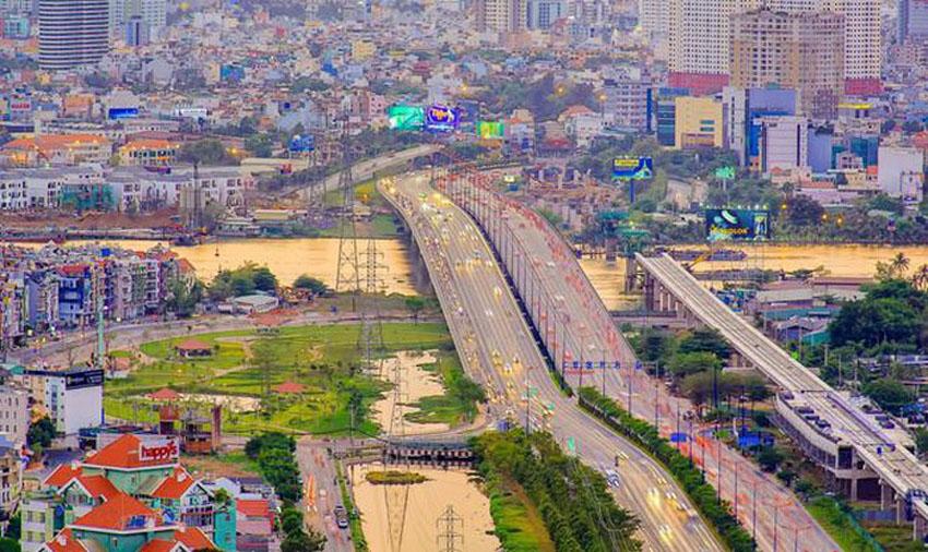Khoảnh khắc Sài Gòn đẹp lạ thường trong bộ ảnh chụp từ trên cao 11