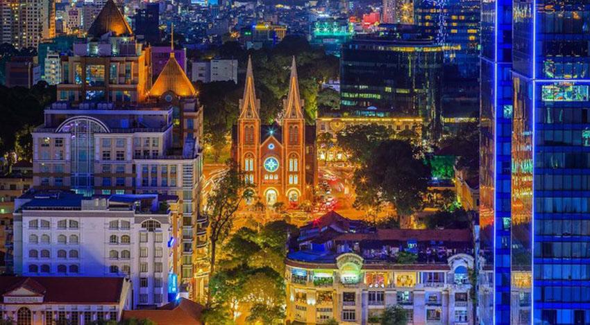 Khoảnh khắc Sài Gòn đẹp lạ thường trong bộ ảnh chụp từ trên cao 10