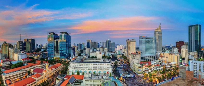 Khoảnh khắc Sài Gòn đẹp lạ thường trong bộ ảnh chụp từ trên cao 15