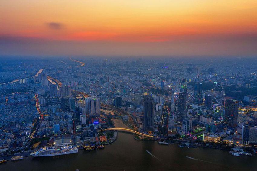 Khoảnh khắc Sài Gòn đẹp lạ thường trong bộ ảnh chụp từ trên cao 12