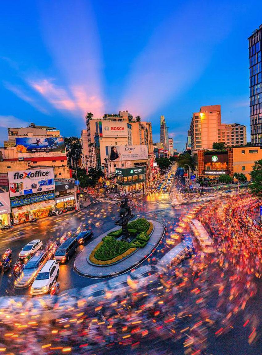 Khoảnh khắc Sài Gòn đẹp lạ thường trong bộ ảnh chụp từ trên cao 19