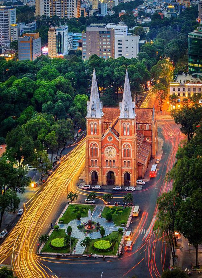 Khoảnh khắc Sài Gòn đẹp lạ thường trong bộ ảnh chụp từ trên cao 18