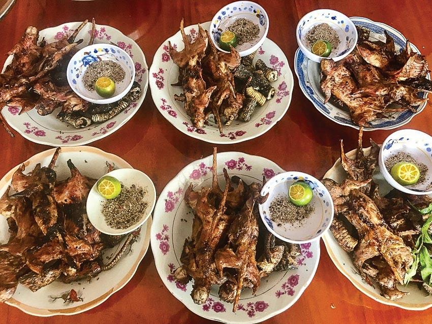 Chuột dừa nướng