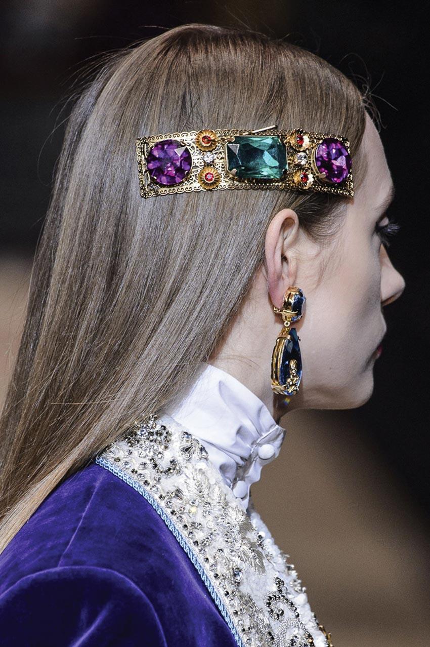 Cặp tóc đá quý của Dolce & Gabbana 2