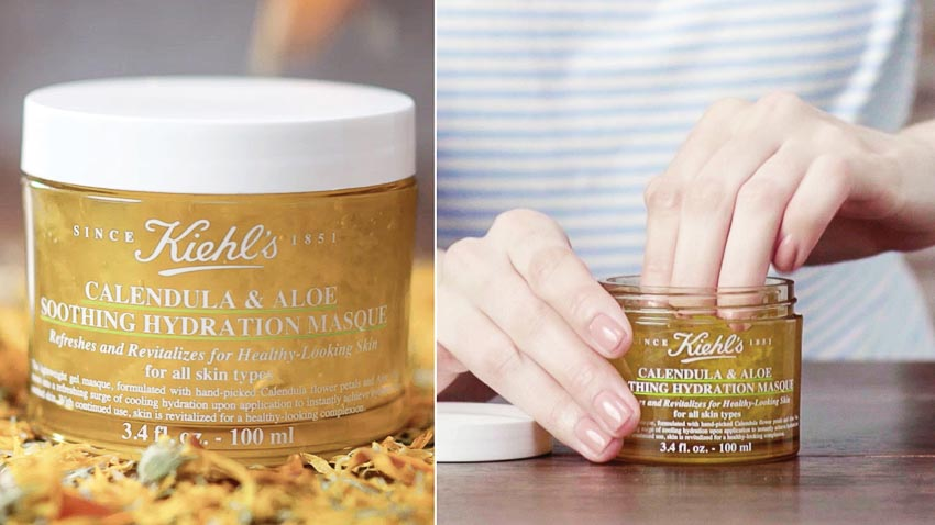 Mặt nạ dưỡng ẩm của Kiehl's Calendula & Aloe Soothing Hydration Mask