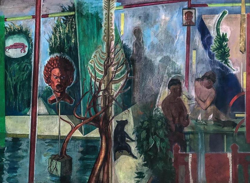 Sự tồn tại - tranh acrylic của Trần Hải Minh