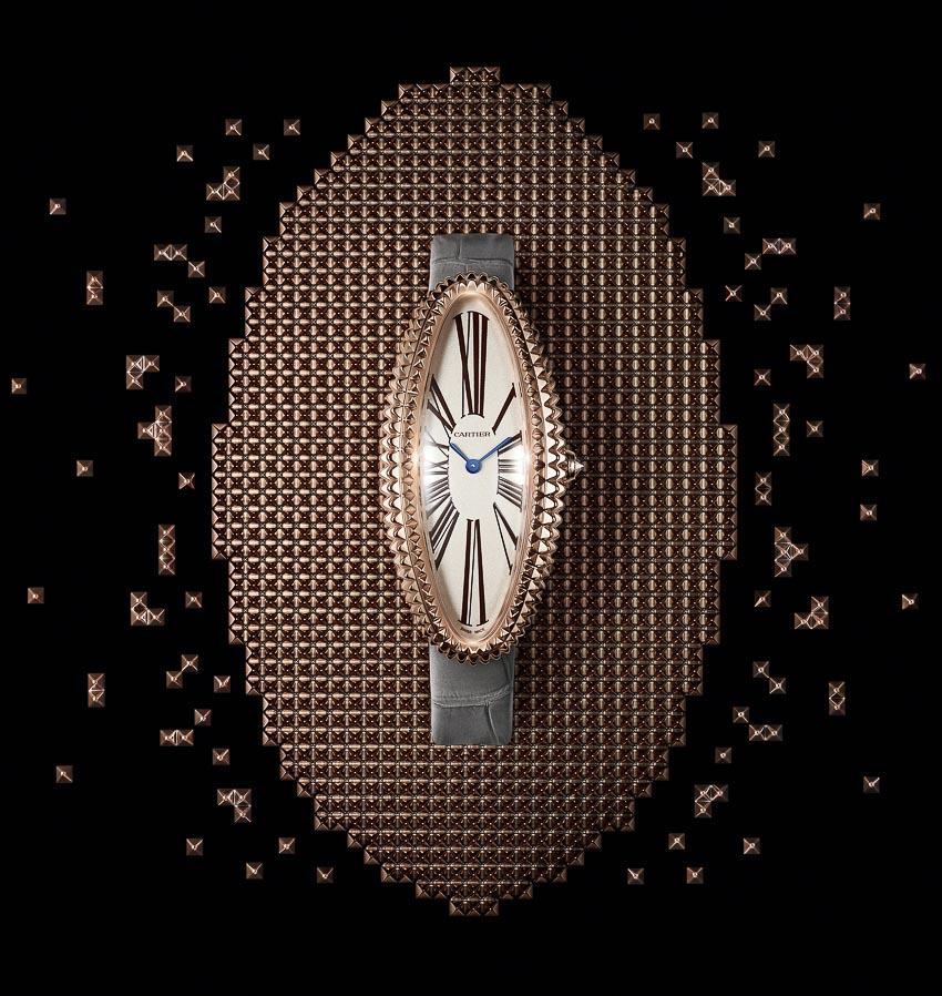 Chiếc đồng hồ kinh điển Baignoire Allongée của Cartier với tạo hình mới mẻ 4