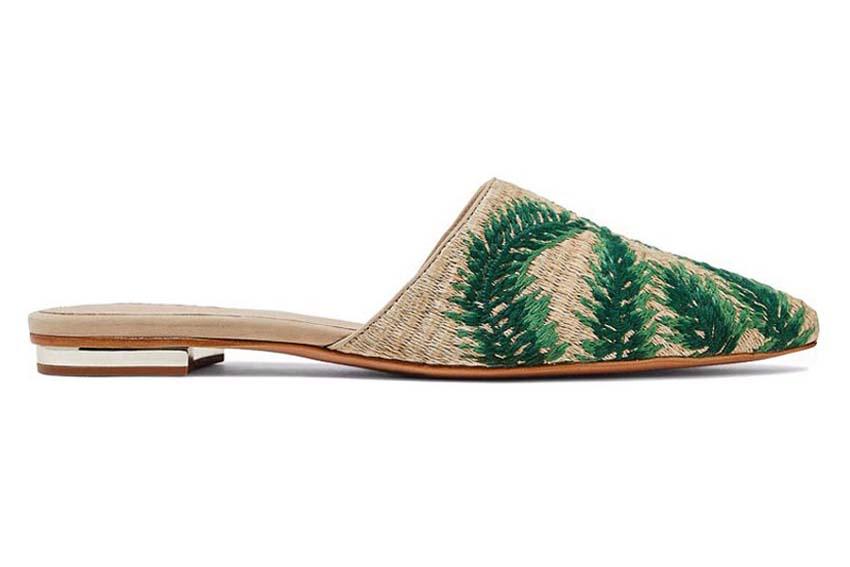 Nét mộc mạc mà hiện đại trên những mẫu giày dép đan lát 8