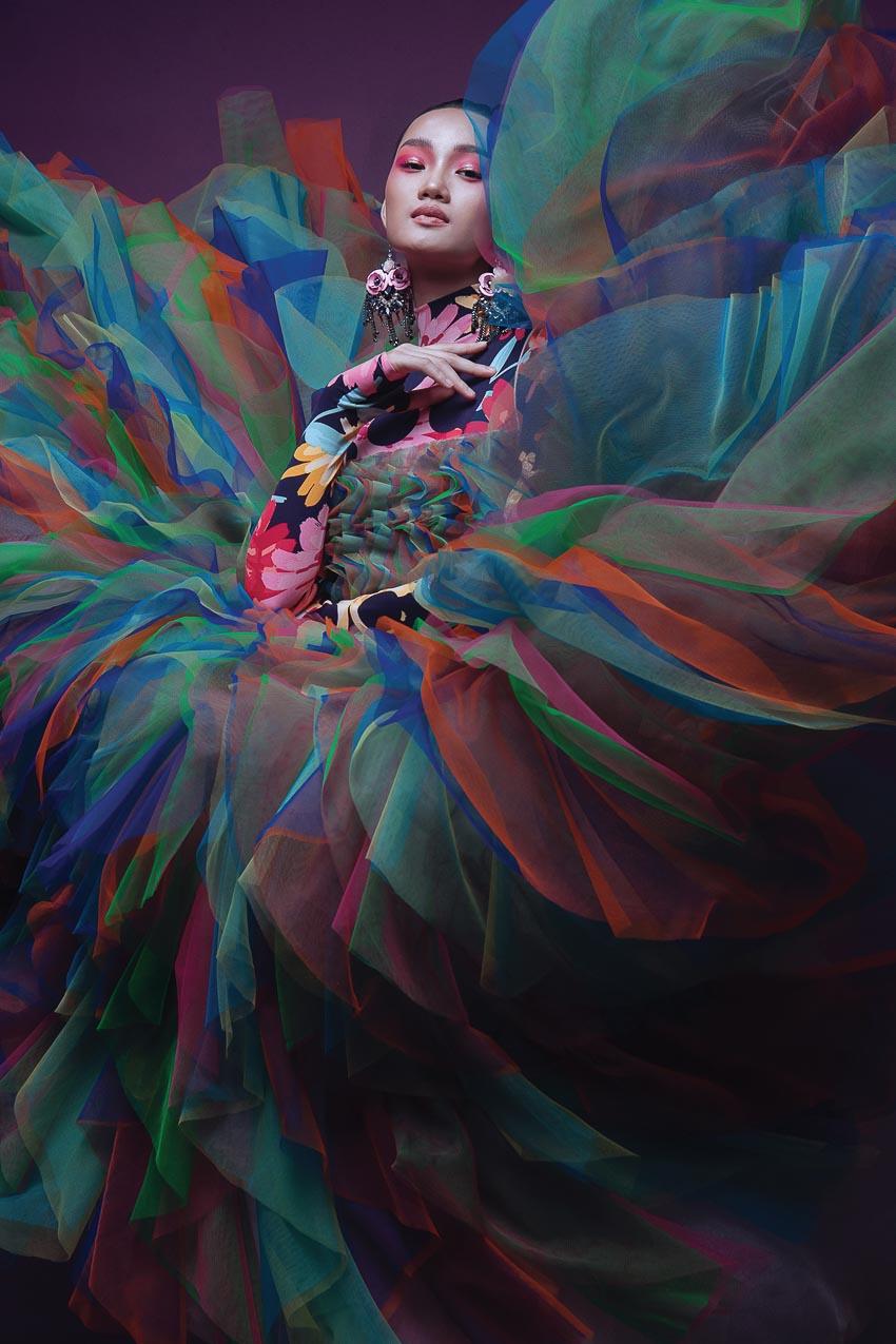 trang phục đa sắc màu của nhà thiết kế Đỗ Mạnh Cường 5
