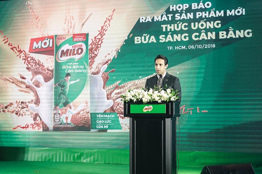 Ông Ali Abbas - Giám đốc ngành hàng MILO và sữa, Nestlé Việt Nam 2