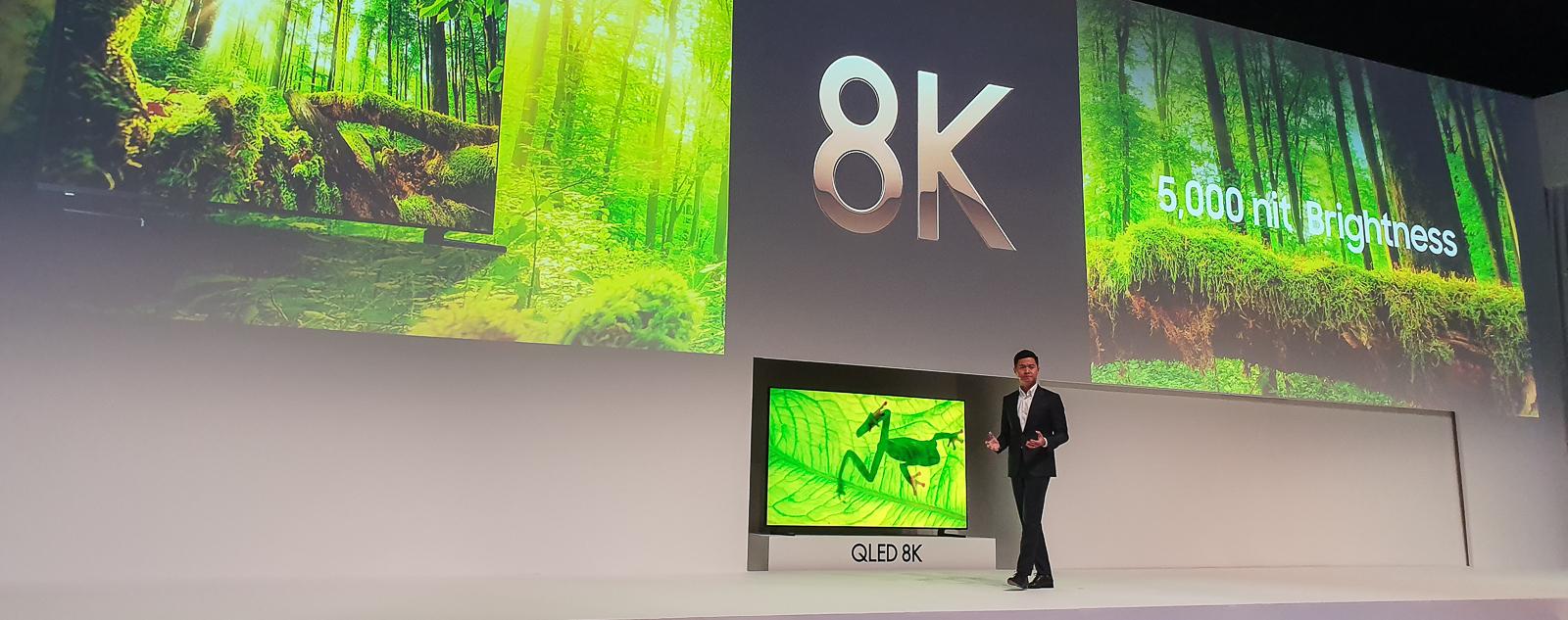 Samsung giới thiệu loạt TV QLED 8K và QLED 2019 tại Diễn đàn SEAO 2019.