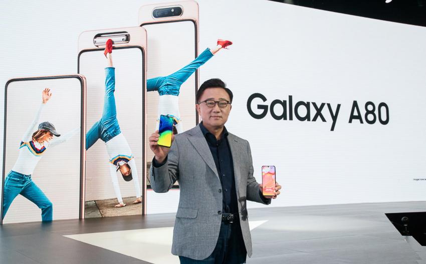 Samsung Galaxy A80 mới, màn hình vô cực với cụm 3 camera trượt và xoay - 02