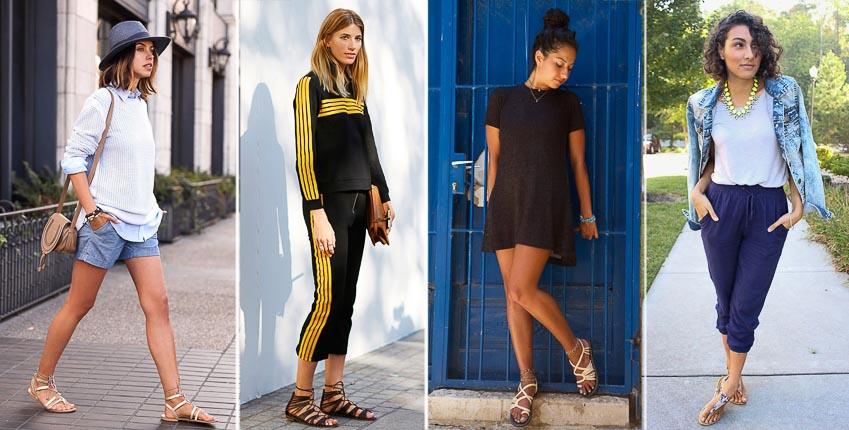 Sandal đế bệt - đôi giày có khả năng biến hóa phong cách đa dạng