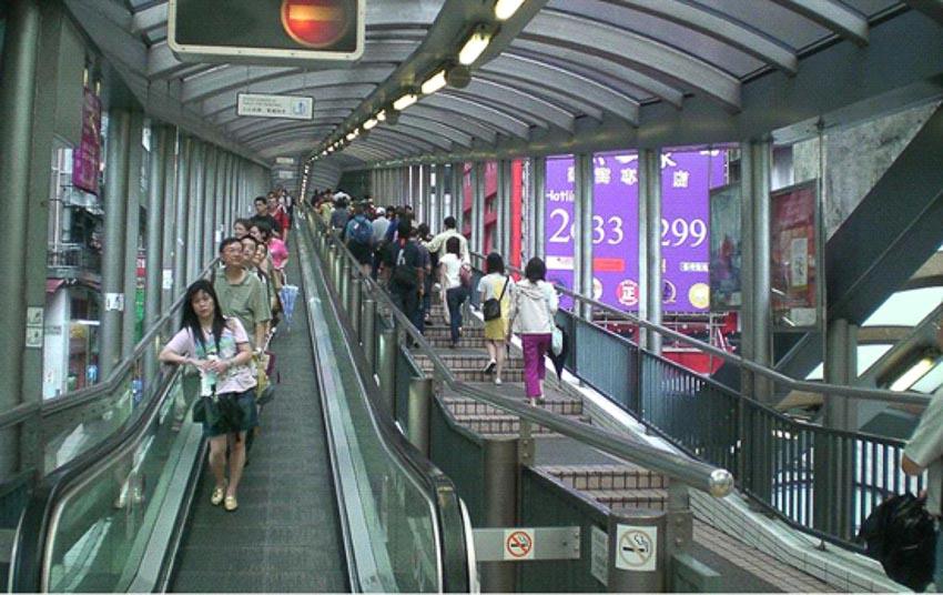Thang cuốn ngoài trời ở Hồng Kông