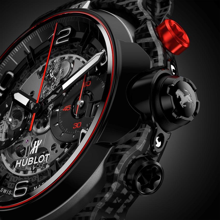 Classic Fusion Ferrari GT 3D Carbon với cơ chế Flyback Chronograph