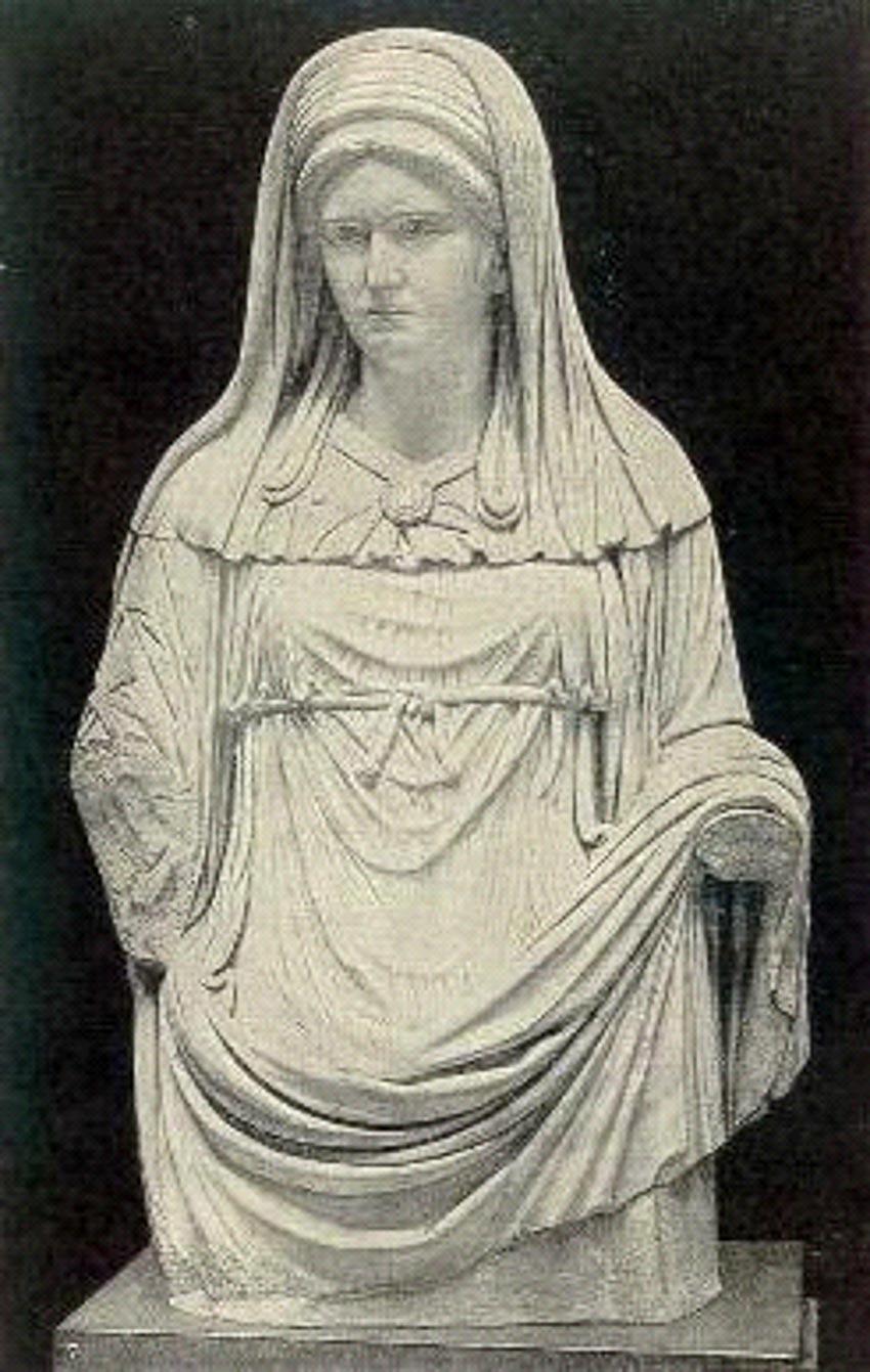 Tượng trinh nữ mang mạng che của La Mã