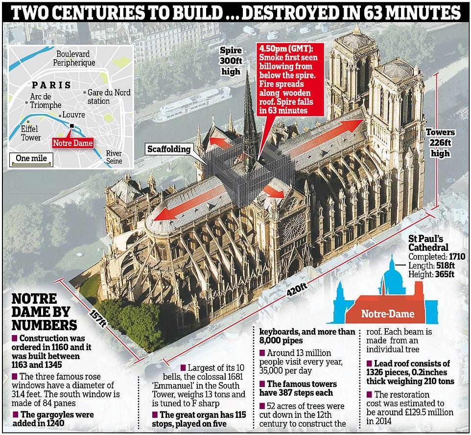 Cả thế giới bàng hoàng nhìn Nhà thờ Đức Bà Paris bốc cháy dữ dội-9