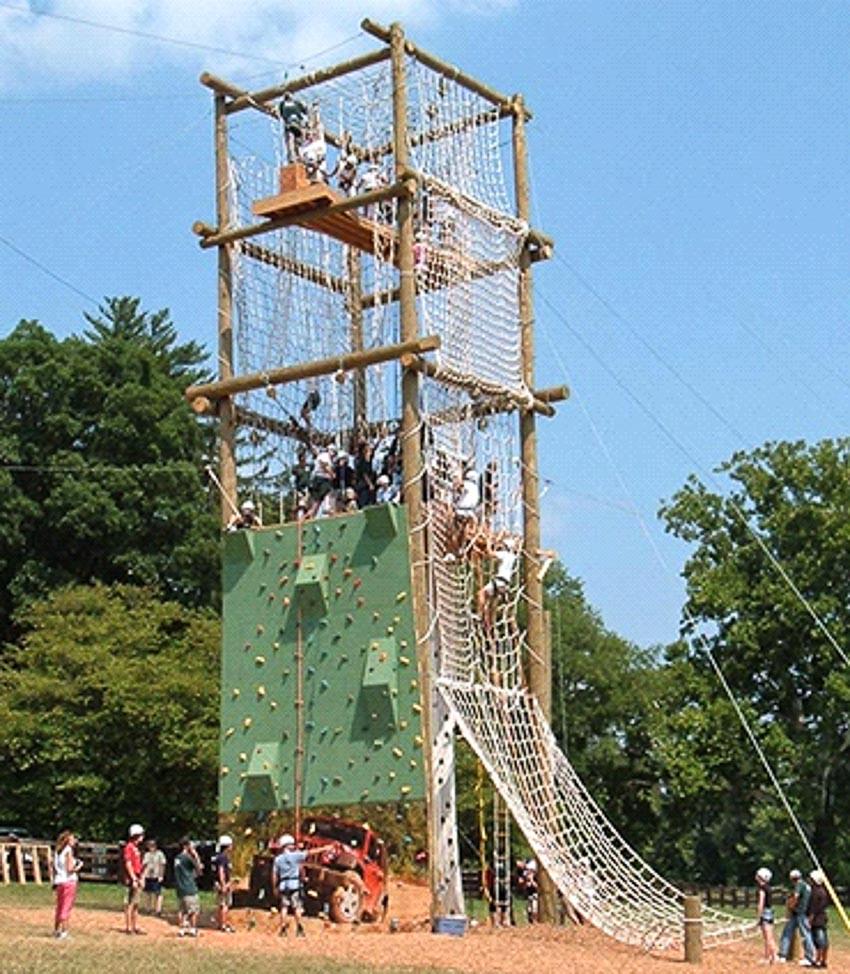 Một zipline do Reddish xây dựng năm 2007