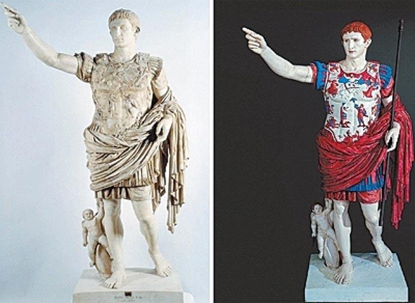 Màu sắc của những bức tượng cổ