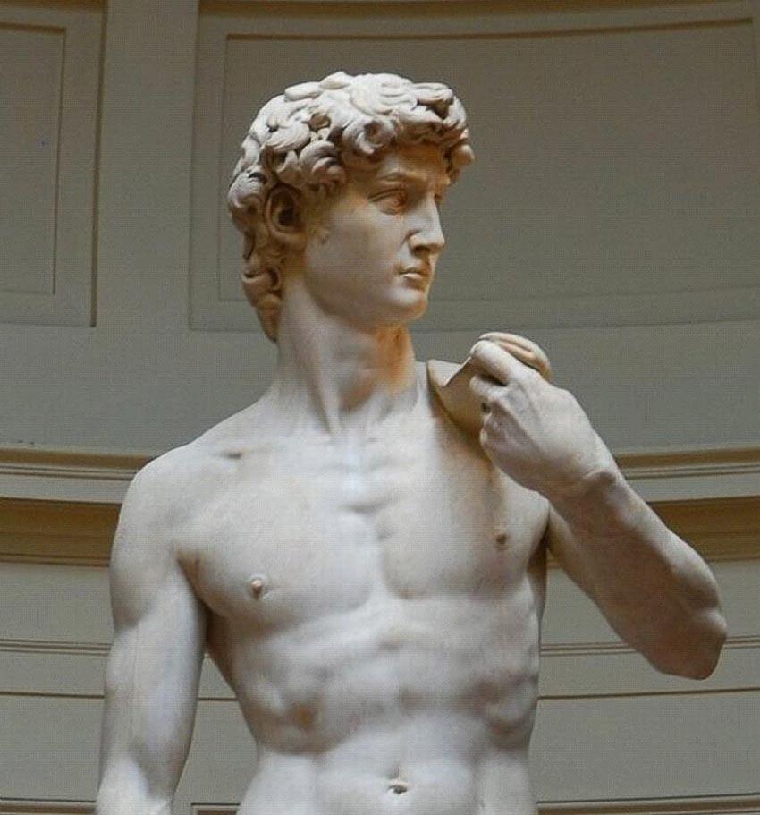 Tượng David được chế tác từ đá cẩm thạch hỏng