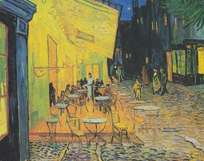 Bức họa Cà phê vỉa hè trong đêm