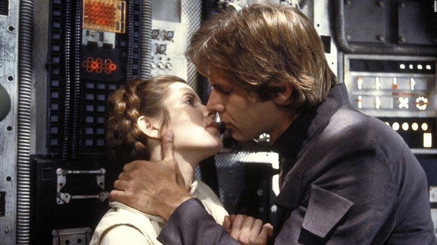 Cảnh hôn trong phim Empire Strikes Back (1980)