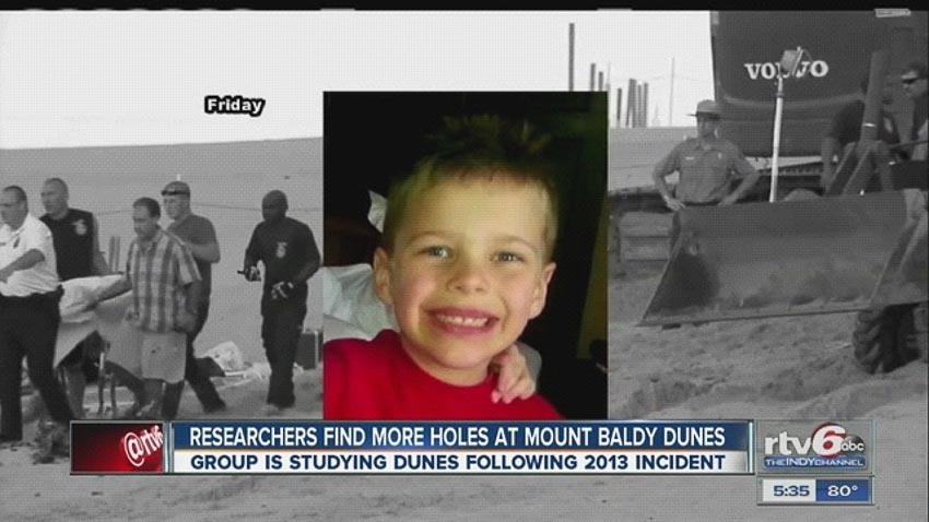 Bé trai Nathan Woessner, 6 tuổi, thoát chết khỏi hố sụt năm 2013