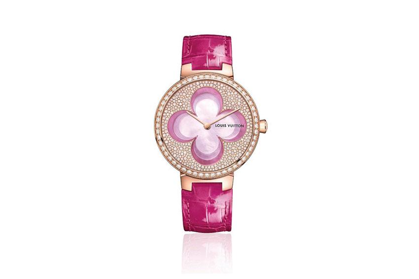 Đồng hồ với họa tiết hoa của Louis Vuitton