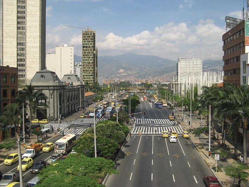 Trung tâm Medellín, thành phố lớn thứ nhì Colombia