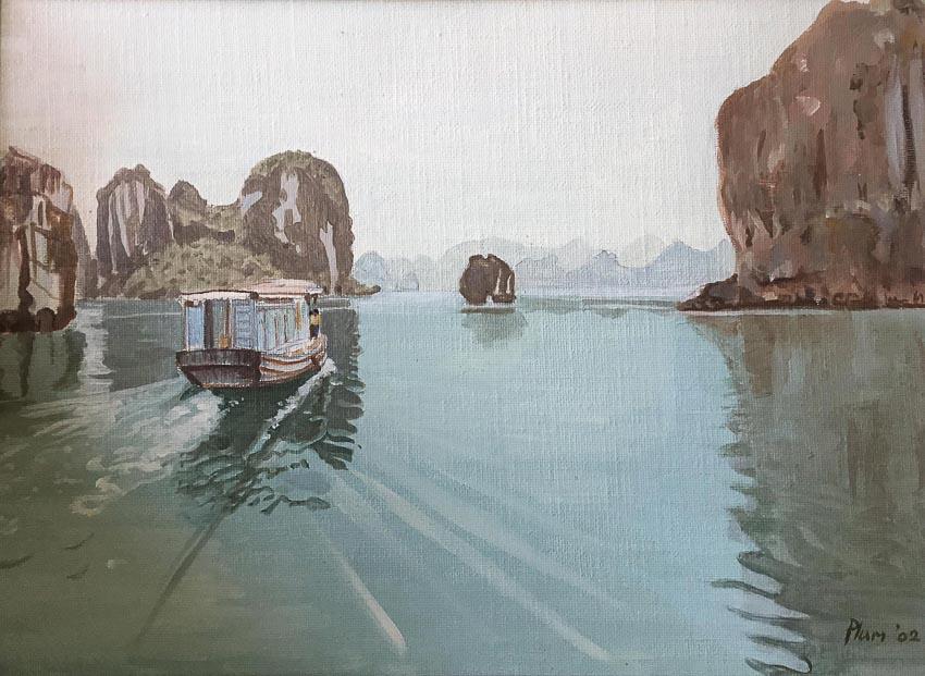 Vịnh Hạ Long - tranh sơn dầu