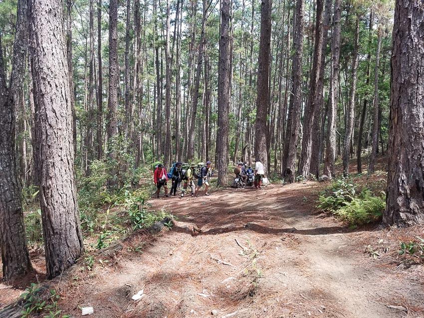 Gặp những người dân địa phương vào rừng, lên rẫy
