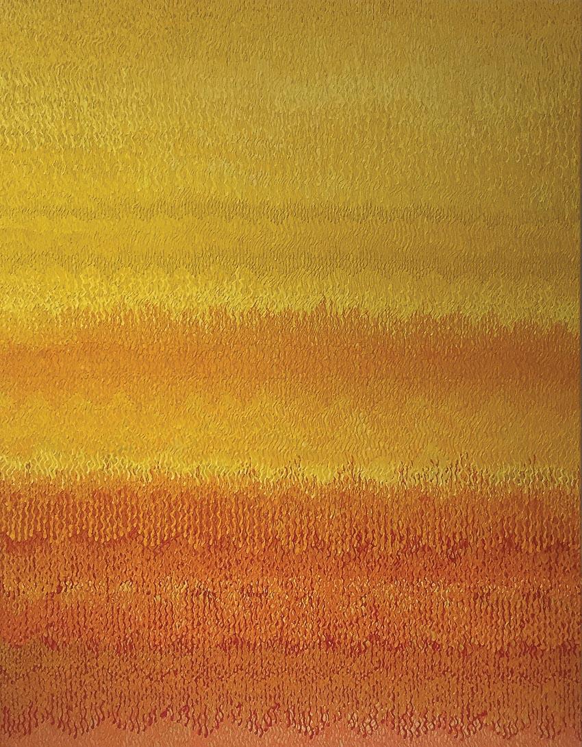 Phong cảnh vàng 3 (acrylic, 160 x 140cm, 2016)