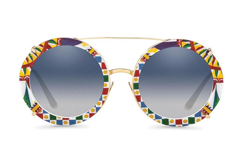 Mắt kính gọng tròn nhiều màu sắc của Dolce & Gabbana