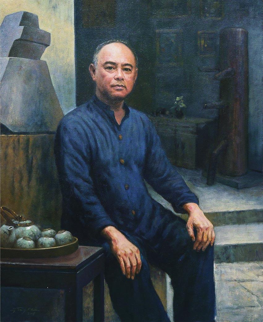 Chân dung Trần Hậu Tuấn - tranh sơn dầu trên toan của Nguyễn Trọng Khôi