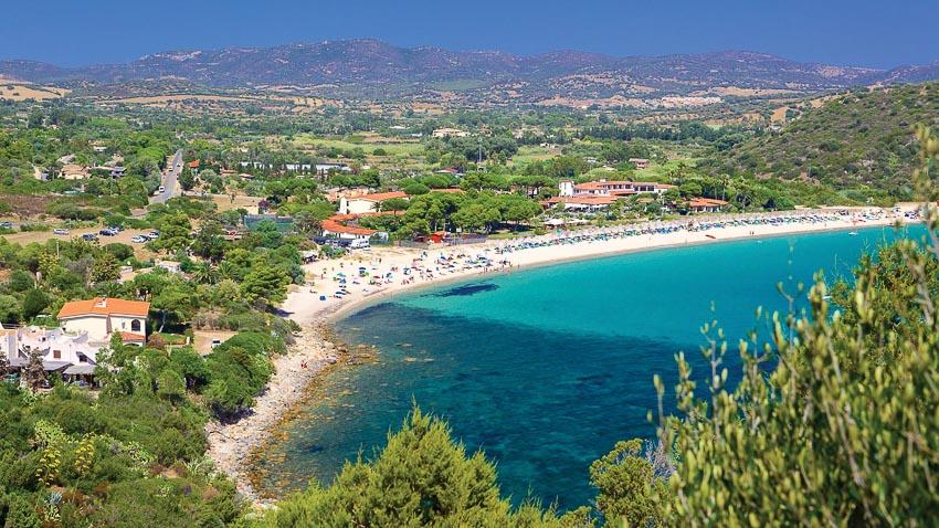 Một bãi biển đẹp ở phía nam thành phố Cagliari