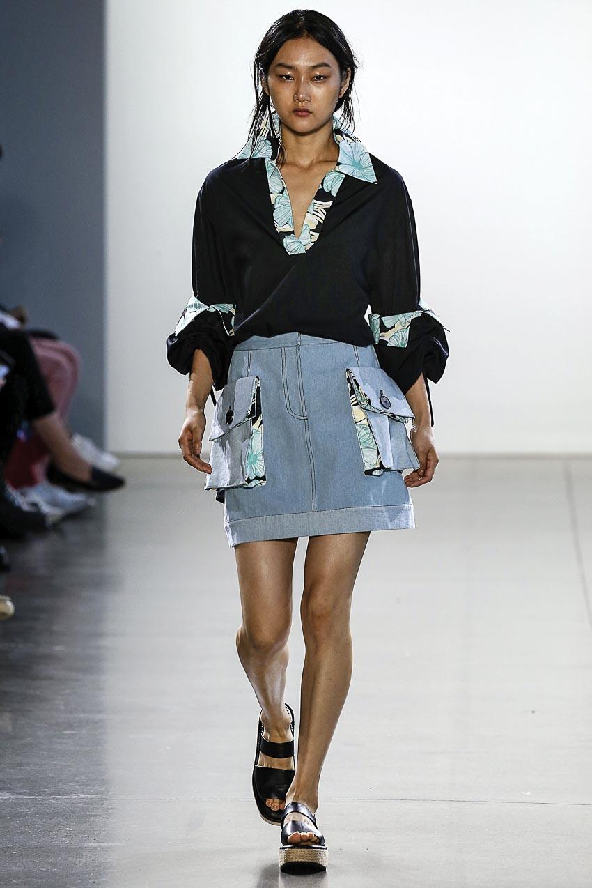 Claudia Li - xu hướng quần túi hộp