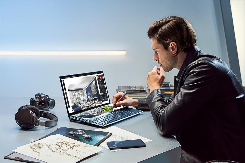 ASUS trình làng ZenBook Pro Duo (UX581) với ScreenPad Plus 7