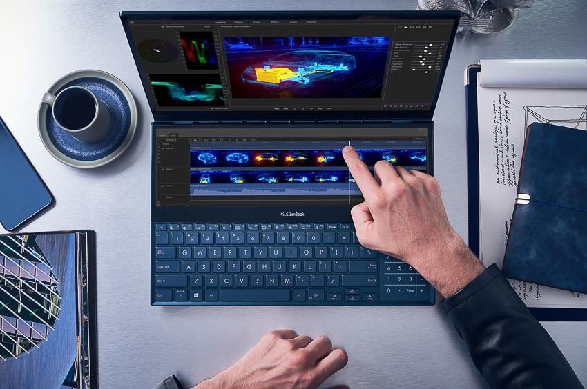 ASUS trình làng ZenBook Pro Duo (UX581) với ScreenPad Plus 8