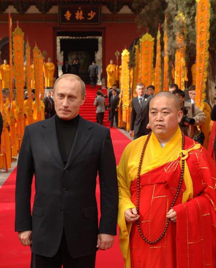 Ông Putin thăm Thiếu Lâm Tự