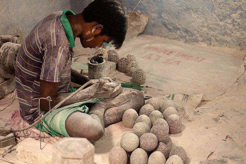 Điêu khắc đá cẩm thạch Agra 6