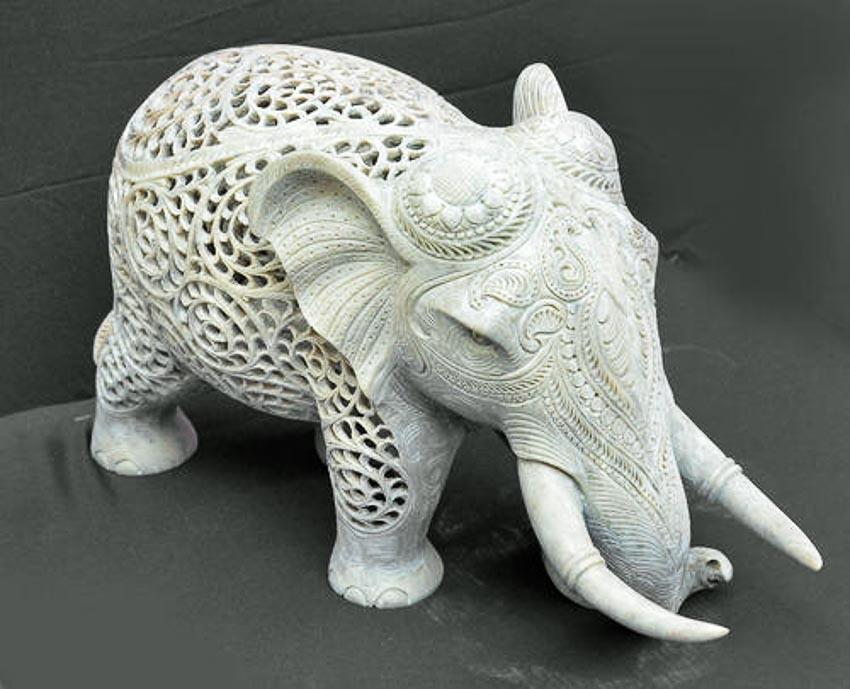 Điêu khắc đá cẩm thạch Agra 7