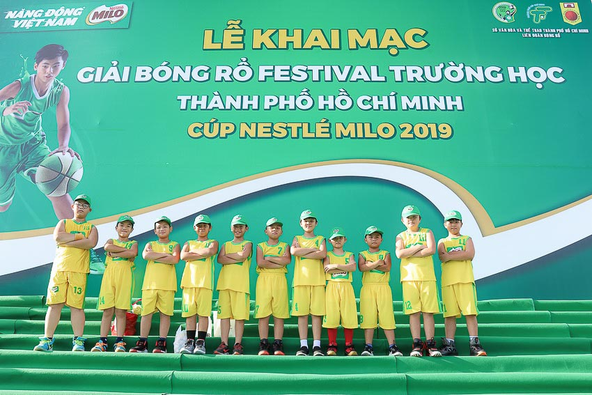 Khai mạc giải bóng rổ Festival trường học TP.HCM – Cúp MILO 2019 1