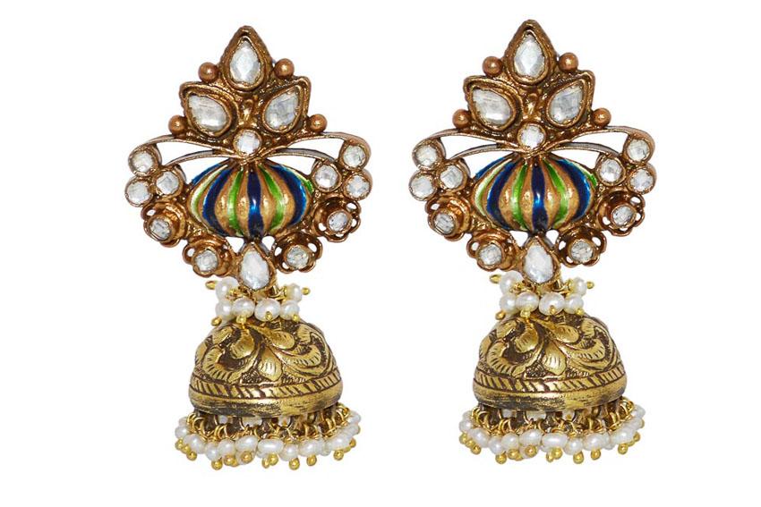 Nữ trang Kundan-Meena truyền thống của Ấn Độ 6