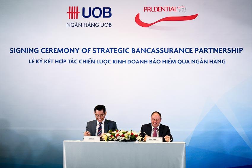Prudential và Ngân hàng UOB hợp tác chiến lược kinh doanh bảo hiểm qua ngân hàng 1