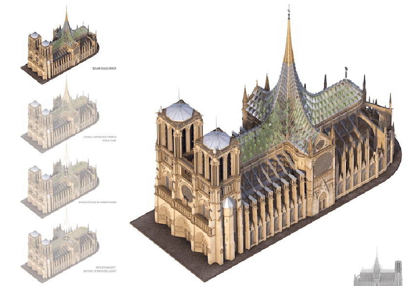 Ý tưởng cho việc xây dựng lại Nhà thờ Đức Bà Paris 6
