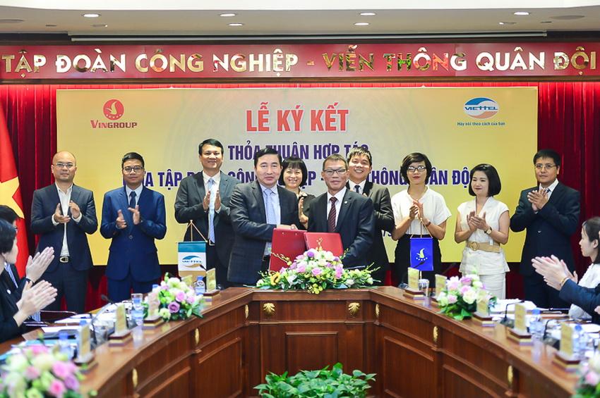 Vingroup và Viettel ký kết hợp tác