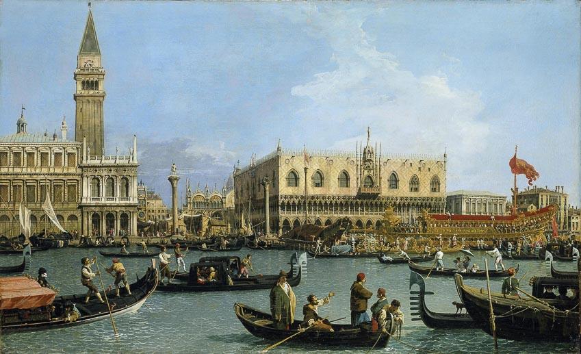 Một bức trong xê-ri tranh vẽ cảnh sắc Venice của Canaletto