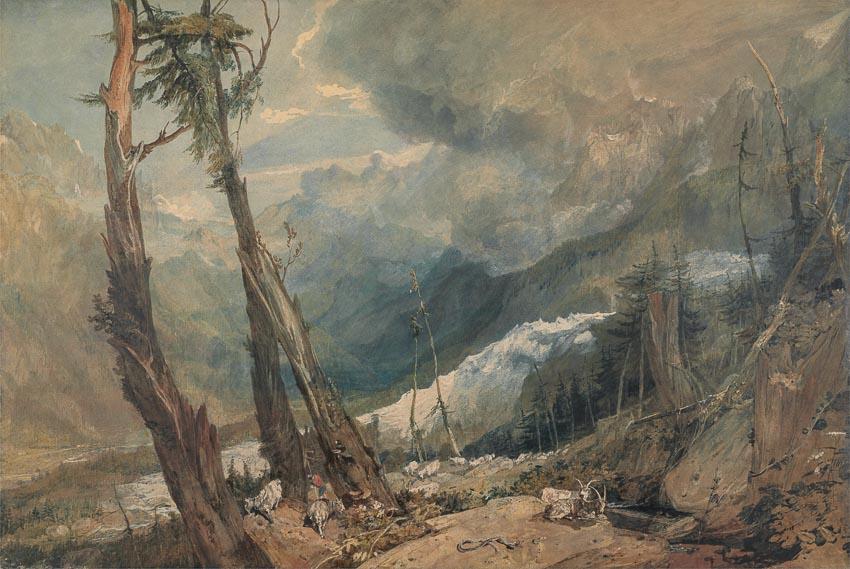 Biển băng, nhìn từ thung lũng Chamouni của William Turner