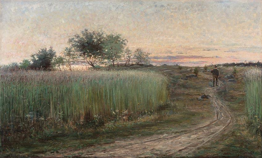 Phong cảnh mùa hè - tranh thời kỳ đầu tiên của Hilma af Klint
